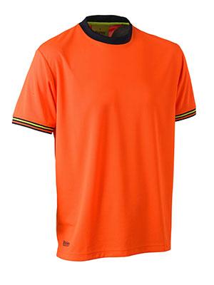 Hi Vis Polyester Mesh Short Sleeve T-Shirt