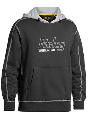 Flex & Move™ Contrast Hoodie with Bisley Print Logo