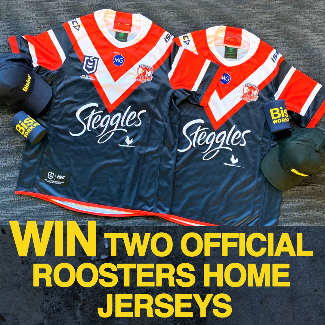 Two Official Roosters Home Jerseys