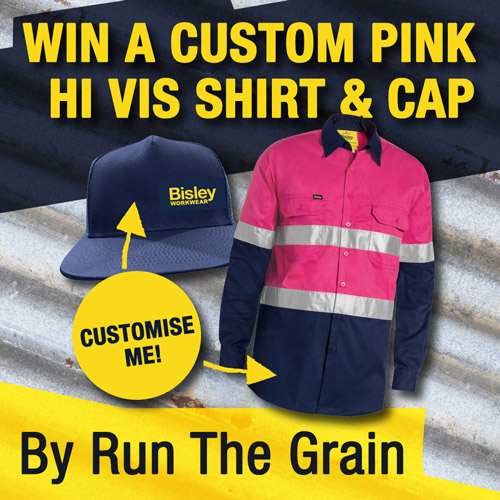 Win a Customised Pink Hi Vis Shirt & Bisley Cap