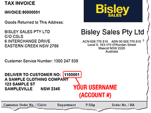 Sample of Bisley Invoice