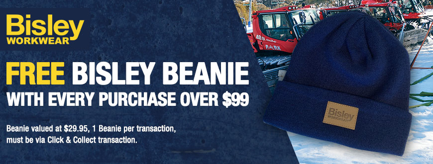 Bisley Beanie Promotional Banner