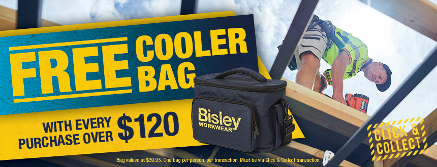 Free Bisley Cooler Bag with every Click & Collect purchase over $120!